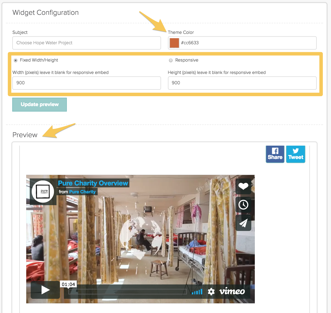 MANAGE: How To Access A Fundraiser's Embed Code – PURE CHARITY